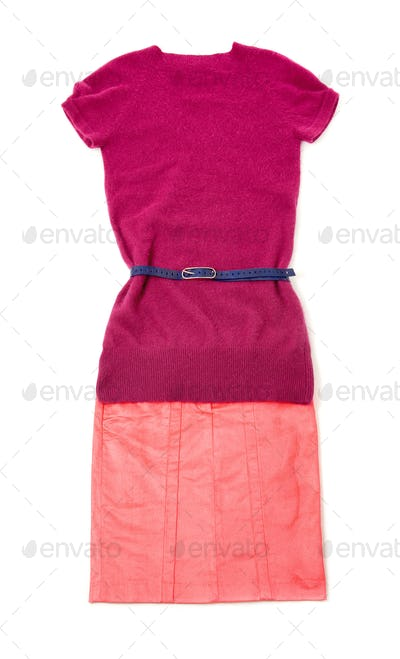 Pink purple still life fashion composition