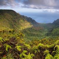 Majestic views of Napali coast from Kalalau lookout