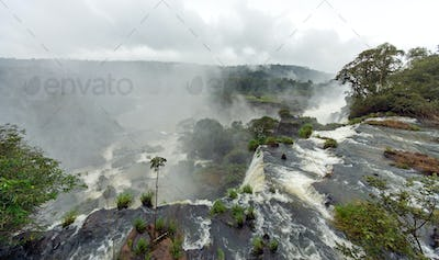 Mist over the Iguazu falls