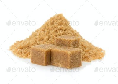 brown sugar cubes on white