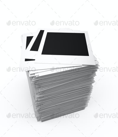 Blank photos stack