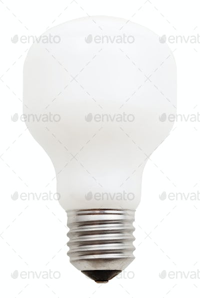 usual incandescent light bulb