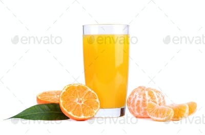 Sweet tangerines juice