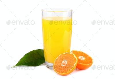 Sweet tangerines juice