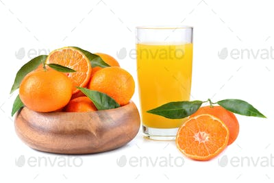 Tangerines and juice