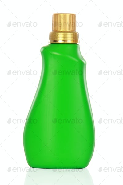 plastic container of cleaning product