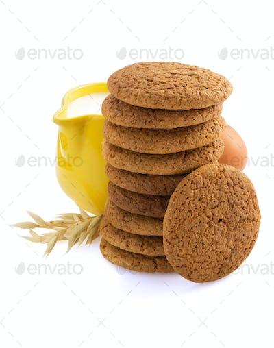 sweet cookies on white