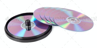 CDs spread out like a fan