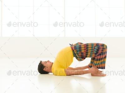 Dhanurasana pose