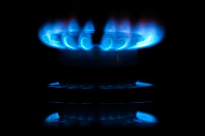Blue gas flames