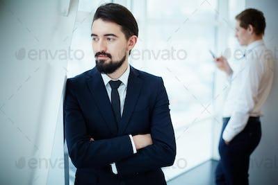 Calm businessman