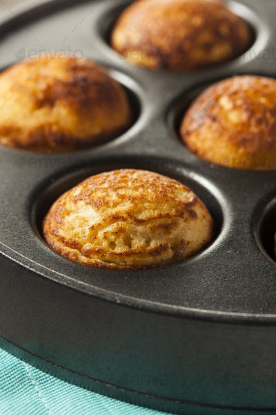 Homemade Aeblskiver Danish Pancake