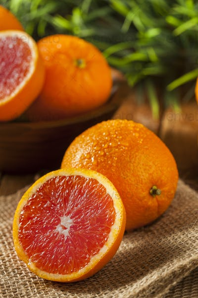 Healthy Organic Ripe Blood Orange