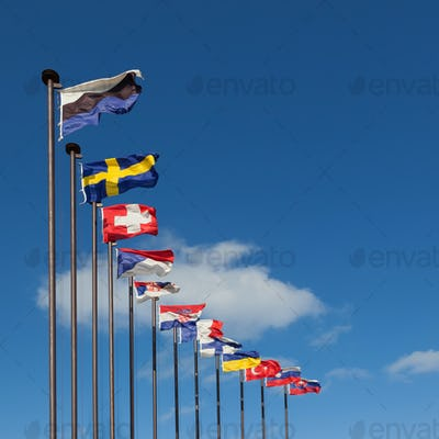National flags of different countries