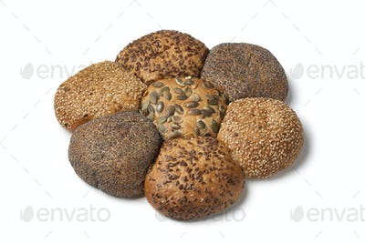 Flower bread with different seeds