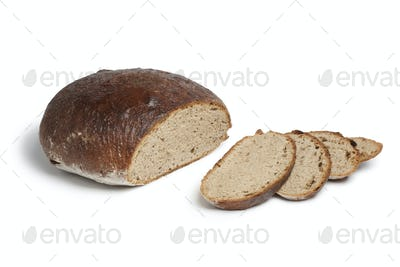German sour dough bread and slices