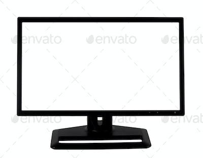 Black computer LCD monitor