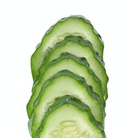 Green sliced cucumber