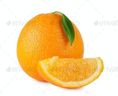 Ripe bright orange