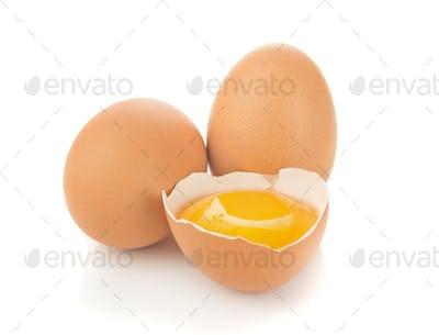 Fresh Eggs and Yolk