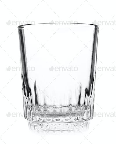 Empty crystal wineglass