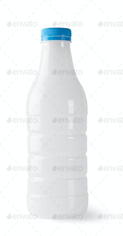 Plastic bottle with blue cap