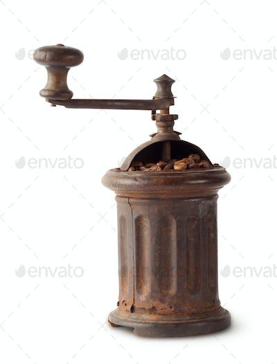 Vintage antique coffee grinder