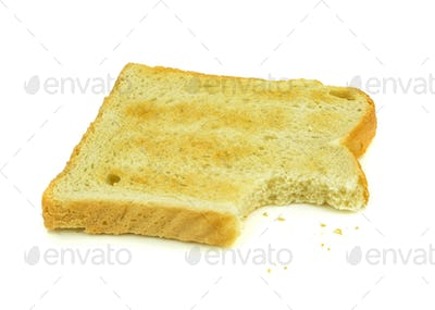 Slice of Toast and Crumbs