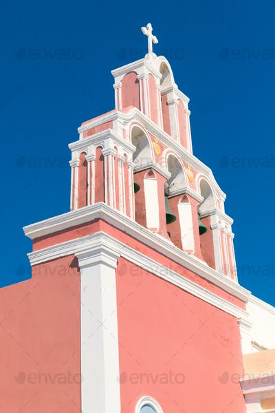 Typical greek belltower