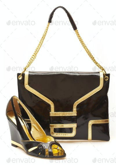 Female shoes and handbag