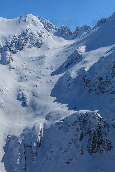 The Fagaras Mountains in winter