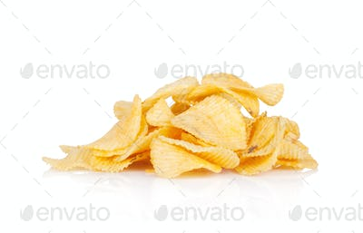 Potato chips heap