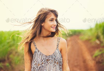 Gorgeous Romantic Girl Outdoors. Summer Lifestyle