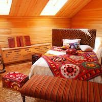 Wooden bedroom