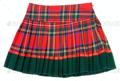 Plaid red feminine skirt