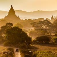 The Temples of bagan at sunrise, Bagan(Pagan), Myanmar