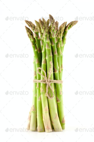 sheaf of ripe green asparagus