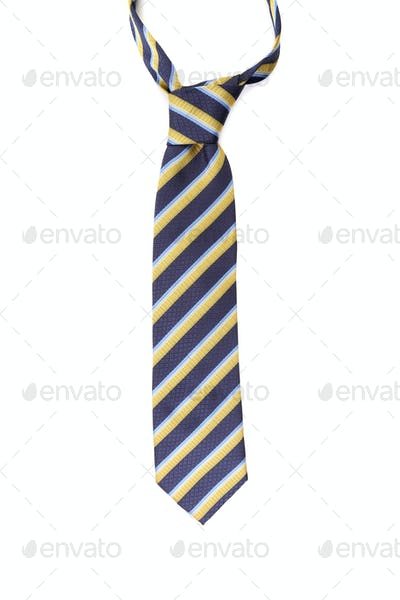 Close up of colorful man's tie
