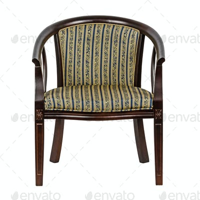 Wooden chair, isolated on white background, with clipping path