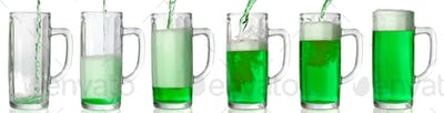 Pouring green beer. 43 Mpxls.