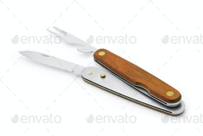 two piece pocket knife and fork