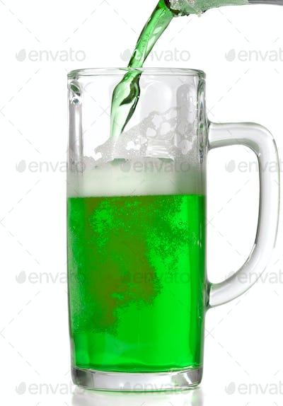 Green Beer mug