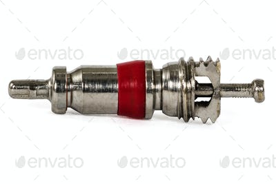 Air valve, isolated on white background, with clipping path