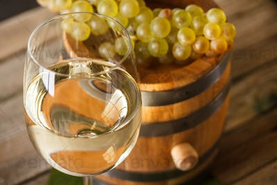 White wine in goblet