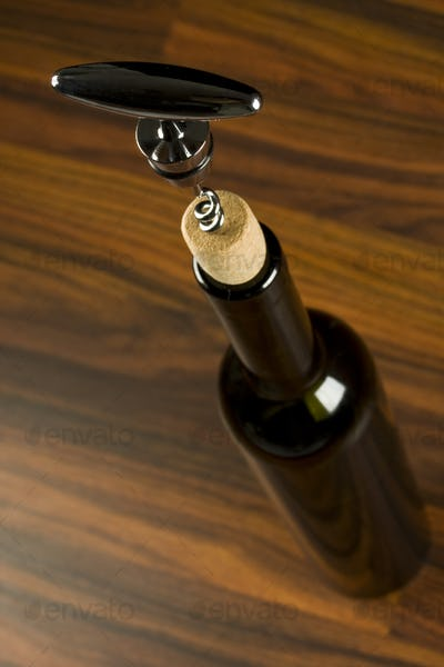 Opening a wine