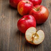 Ripe red apples