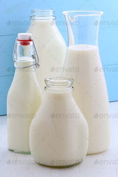 assorted and delicious milk