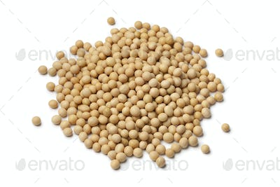 Heap of dried soybeans