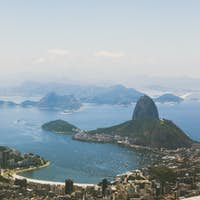 Aerial view over Rio De Janeiro