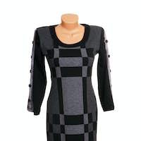 Luxury  modern grey  dress.